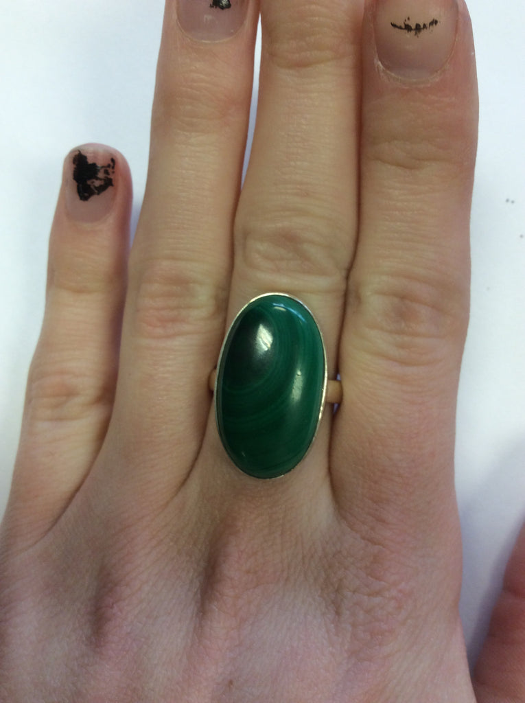Sterling Malachite Ring