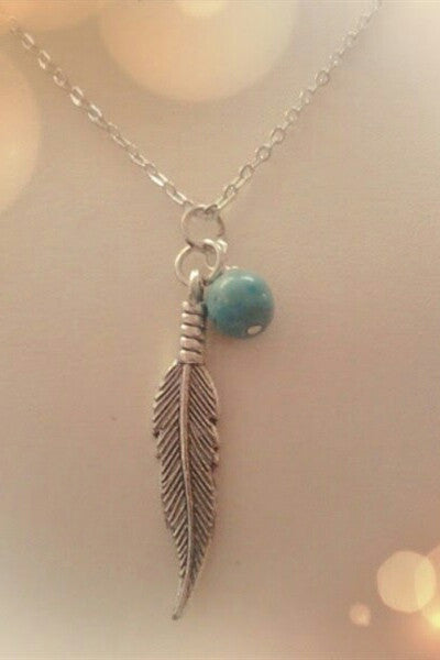 Feather Turquoise Necklace