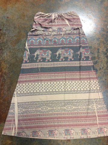 Small Elephant Maxi Skirt