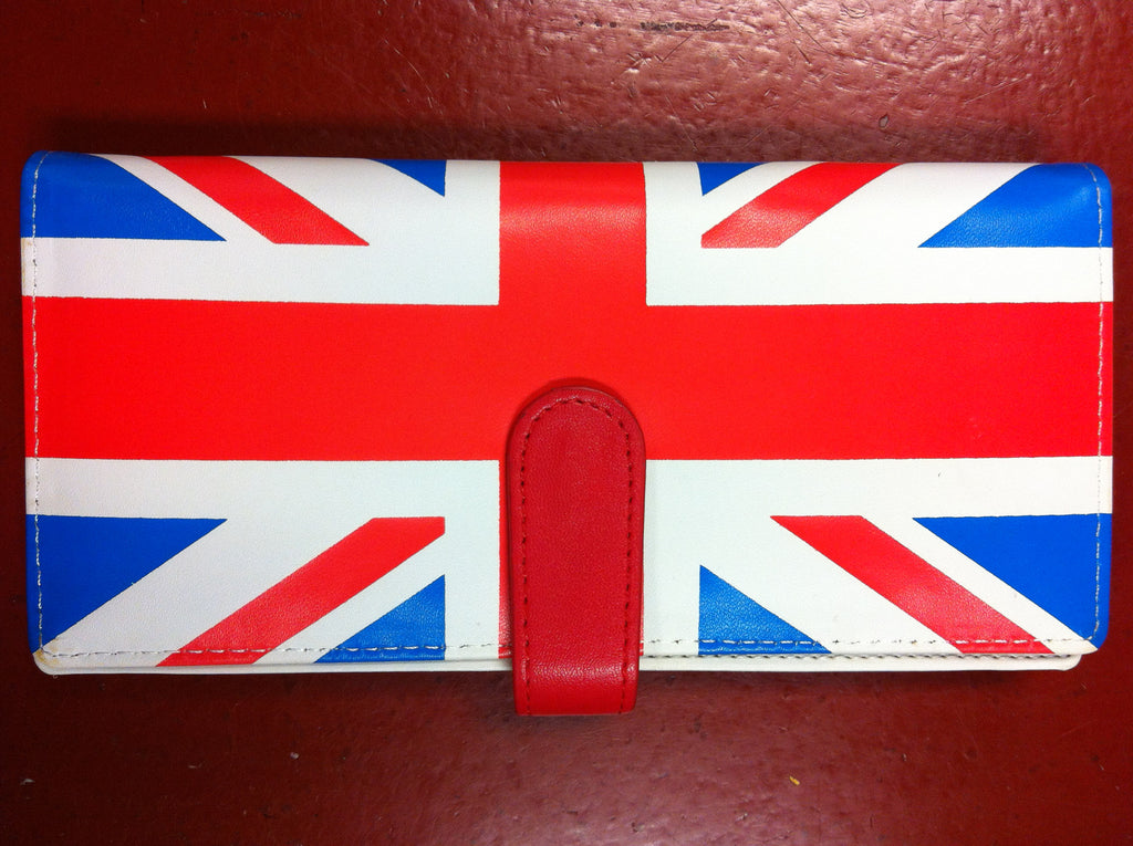 British Flag Checkbook Wallet
