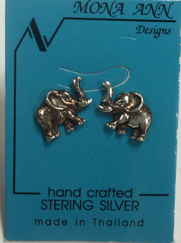 Sterling Elephant Earrings