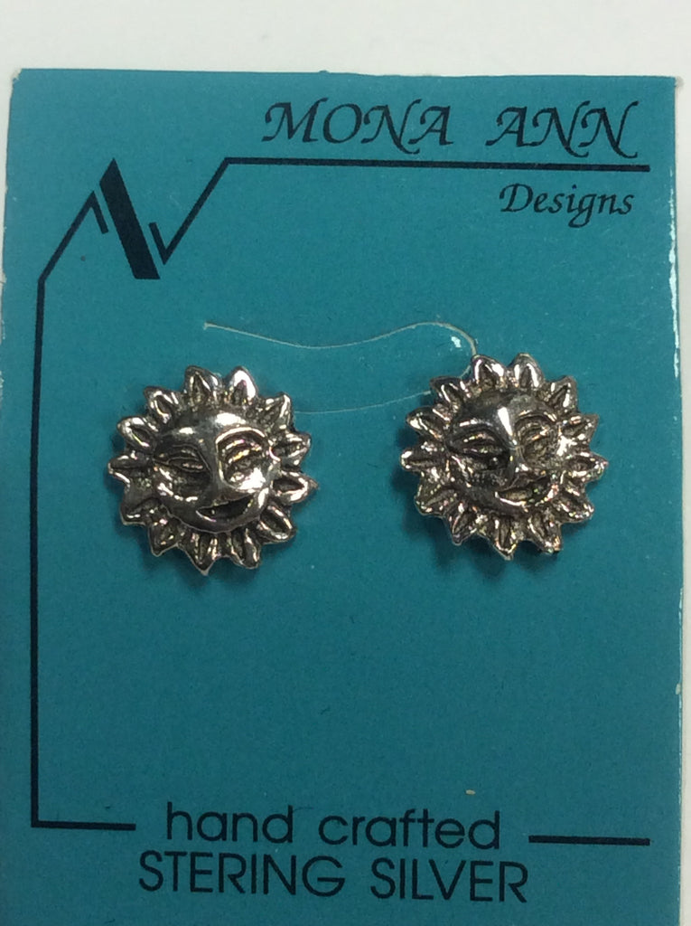 Sterling Sun Earrings