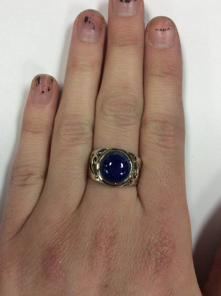 Sterling Lapis Ring