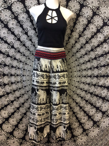 Elephant Tapestry Flare Pants