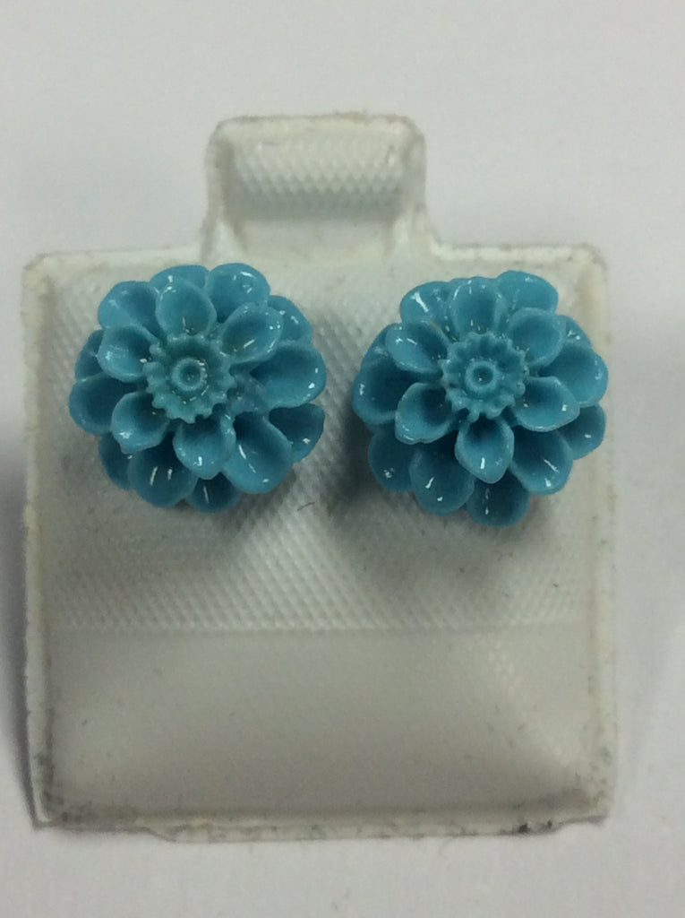 Sterling Acrylic Pastel Mum Earrings