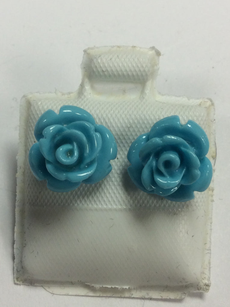 Sterling Acrylic Pastel Rose Earrings