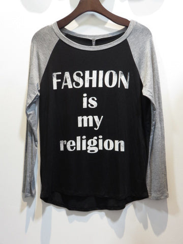 Fashion Is My Religion BaseBall Top