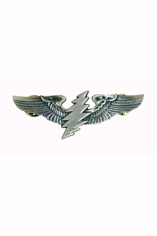 Rock Wings Grateful Dead Bolt Lightning Hat Pin