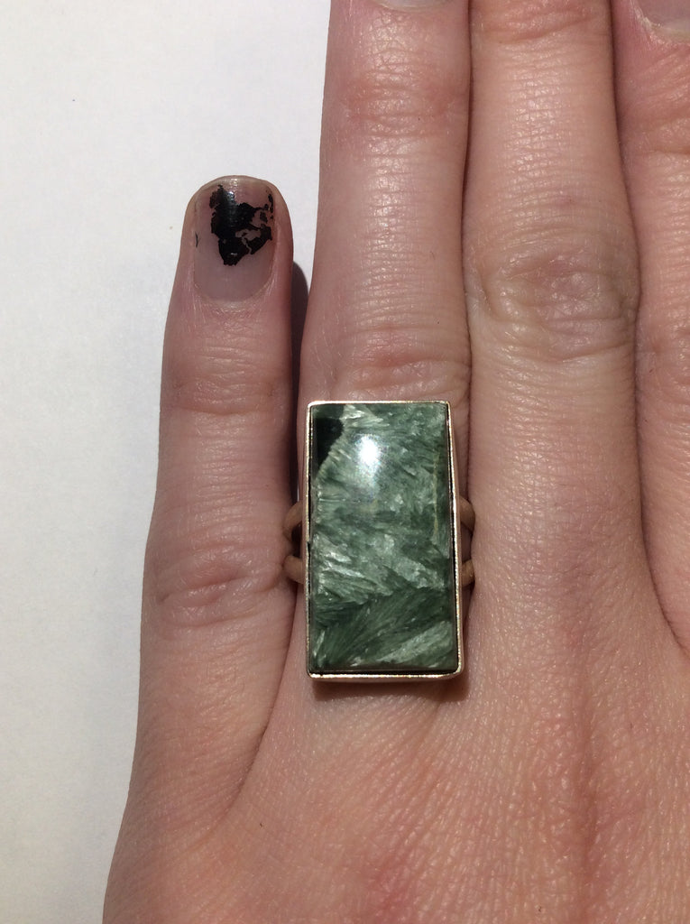 Sterling Seraphinite Ring