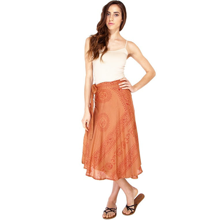 Om Sun Star Wrap Skirt