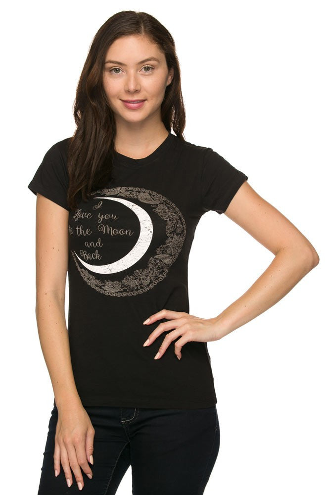 I Love You To The Moon And Back Junior T Shirt Top
