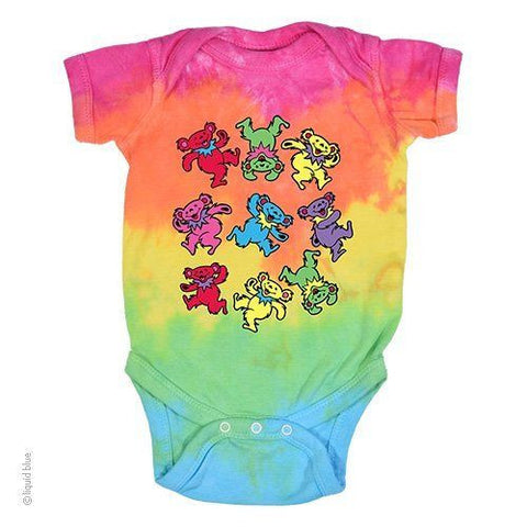 Grateful Dead Spiral Bear Onesie