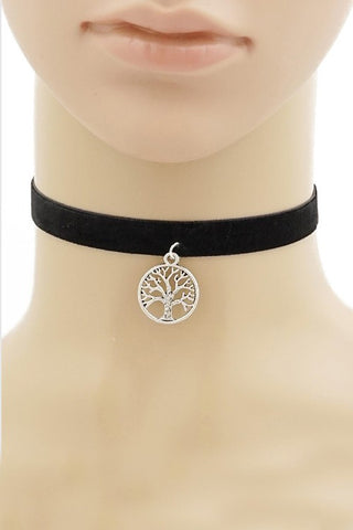 Black Velvet Tree Of Life Choker