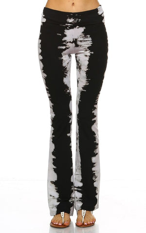 Black and White Tie Dye Yoga Pant