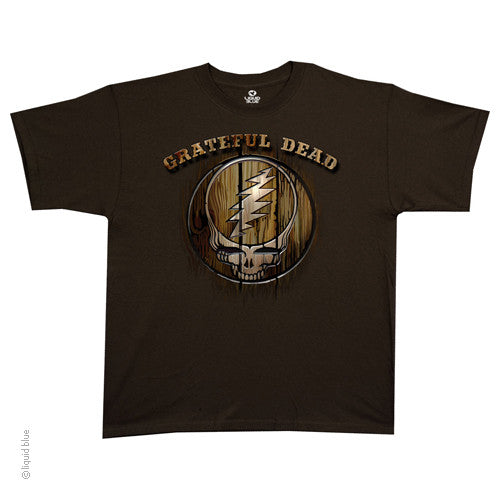 Grateful Dead Steal Your Face Wood T-shirt