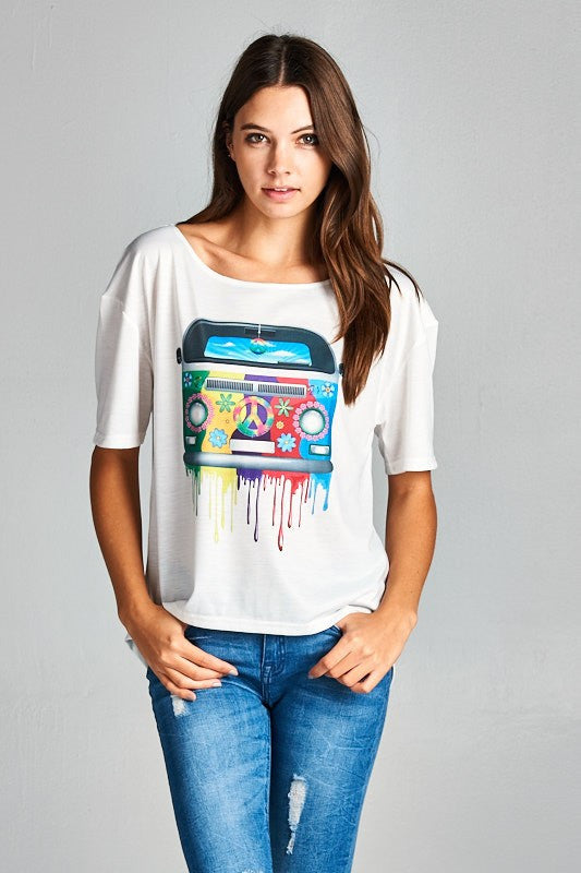 VW Hippy Peace Bus Top