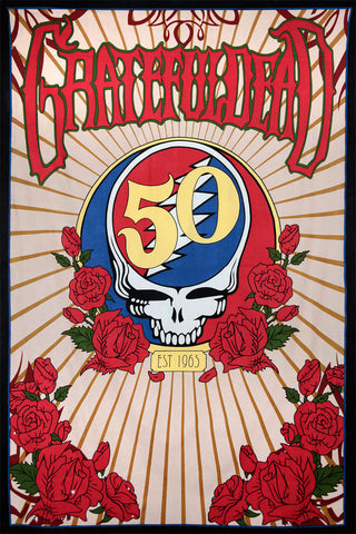 3D Grateful Dead 50th Anniversary Steal Your Face Tapestry