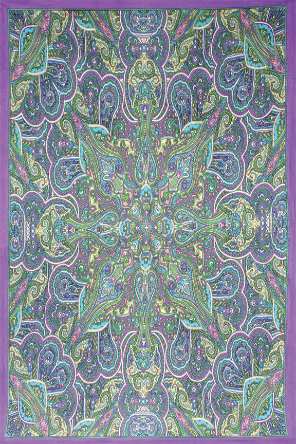 3D Kaleidoscope Paisley Tapestry