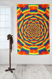 3D Rainbow Heart Tapestry