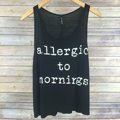 Allergic To Mornings Junior Tank Top