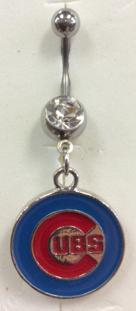 Chicago Cubs Baseball Belly Ring