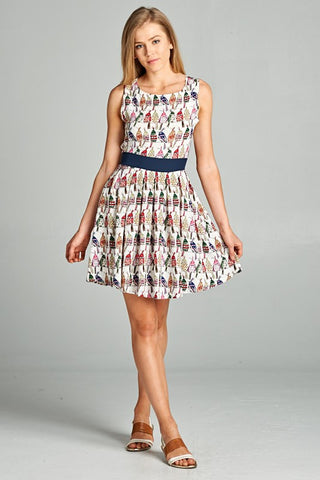 Birdie Tie Back Midi Dress