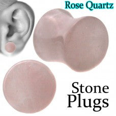 Gauges-Rose Quartz Plugs