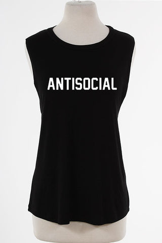 Antisocial Muscle Tank Top