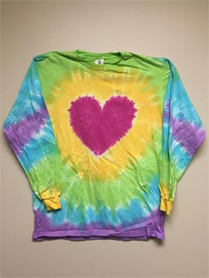 Heart Tie Dye Long Sleeve T-shirt