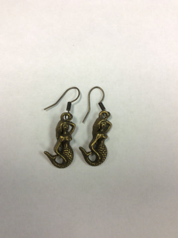 Mermaid Bronze Earrings