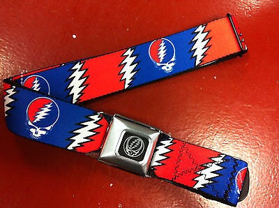 XL Grateful Dead Steal Your Face Seat Belt Belt