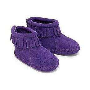 Minnetonka Baby Back Flap Bootie Purple