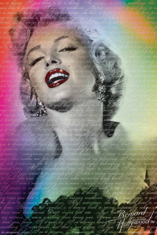 Marilyn Monroe Bernard of Hollywood Poster