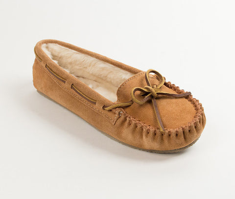 Minnetonka Cally Slipper Moccasin Cinnamon