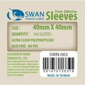 40x40mm - 160 Thin Sleeves (SWN-003)