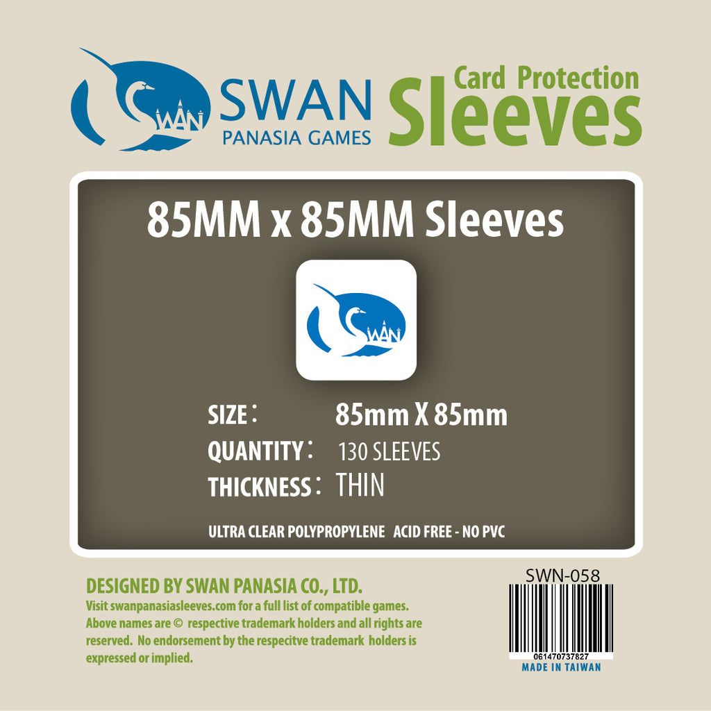 85x85mm Thin Card Sleeves (SWN-058)