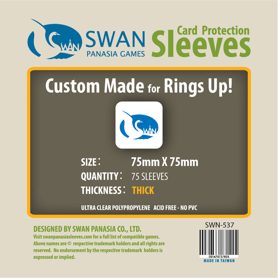 75x75mm Card Sleeves Premium/Thick -75 Pack (SWN-537)