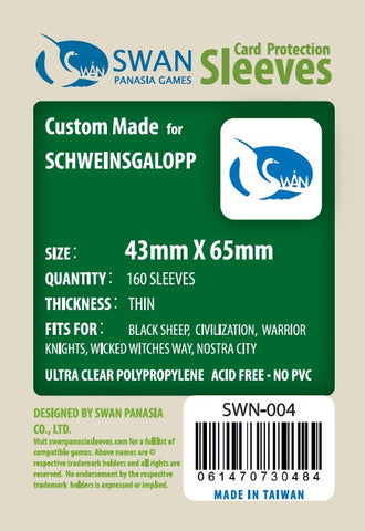 43x65mm - 160 Pack, Thin Sleeves - Schweinsgalopp
