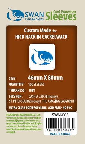 46x80 mm Hick Hack -160 per pack