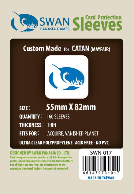 55x82 mm Catan -160 per pack SWN-017