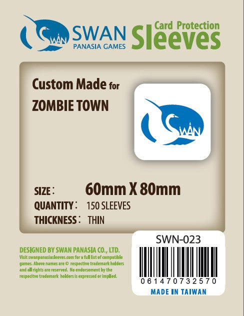 60x80 mm Zombie Town--2011 New -150 per pack