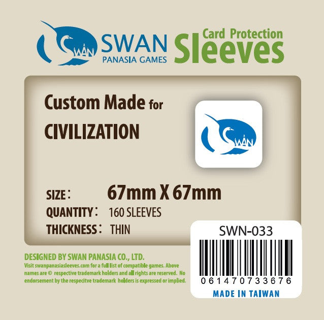 67x67 mm CIVILIZATION -160 per pack, SWN-033