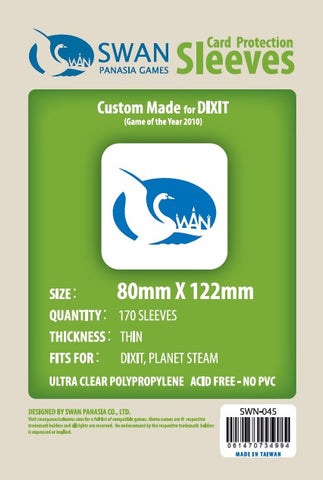 80x122mm - 170 Pack, Thin Sleeves - Dixit, Planet Steam