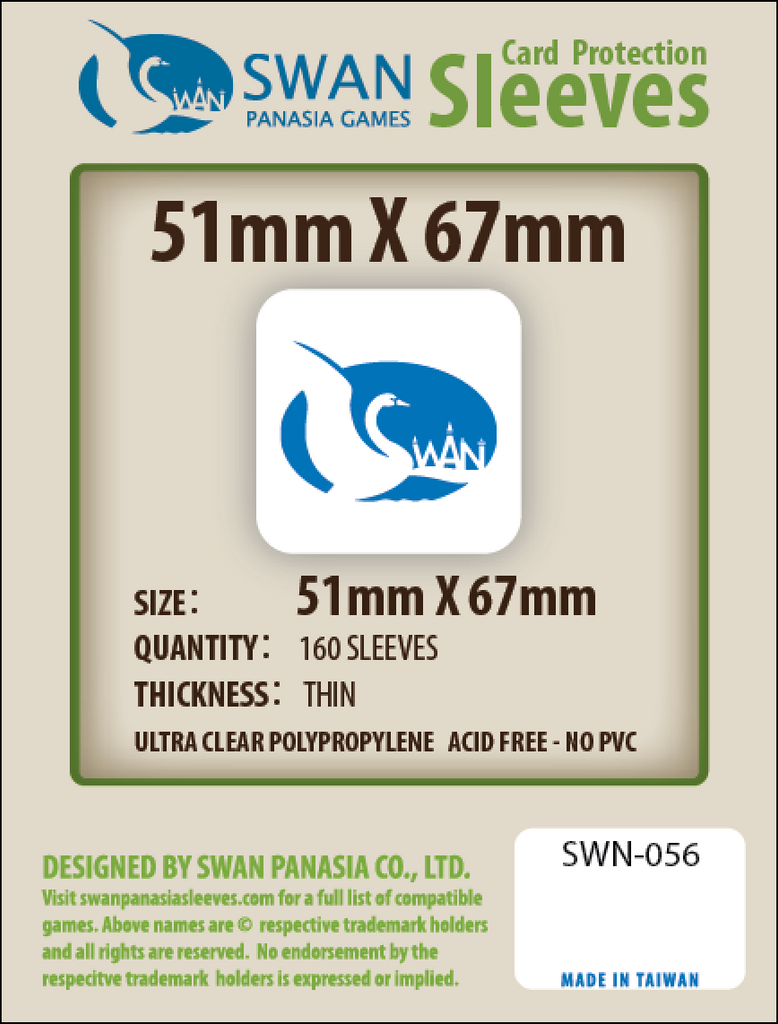 51x67mm - 160 Pack, Thin Sleeves