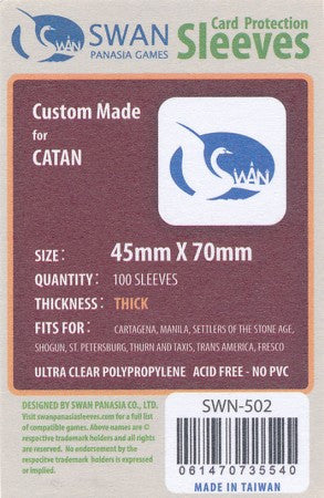 45x70 mm Mini Euro Premium/Thick Card Sleeves -100 per pack (SWN-502)