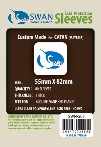 55x82mm Premium/Thick Card Sleeves Yucatan -80 per pack (SWN-503)