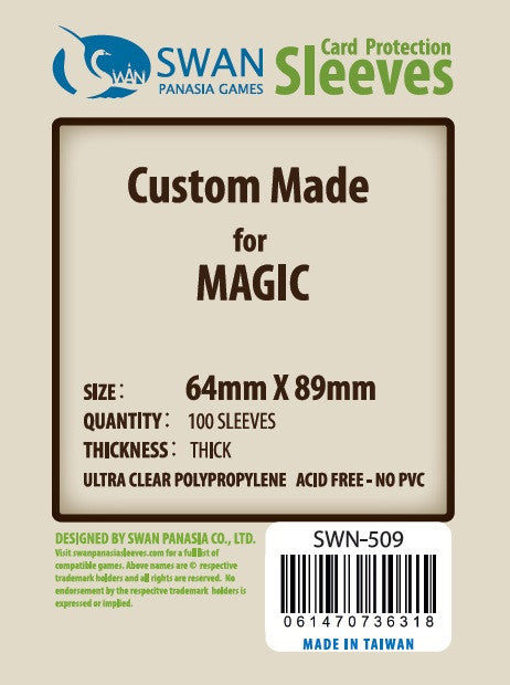 64x89 mm Standard Card Magic The Gathering Premium/Thick -100 per pack (SWN-509)