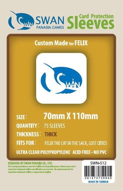 70x110 mm Felix, Lost Cities, Silver Premium/Thick -75 per pack (SWN-512)
