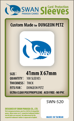 41x67mm - 100 Pack, Thick Sleeves - Dungeon Petz