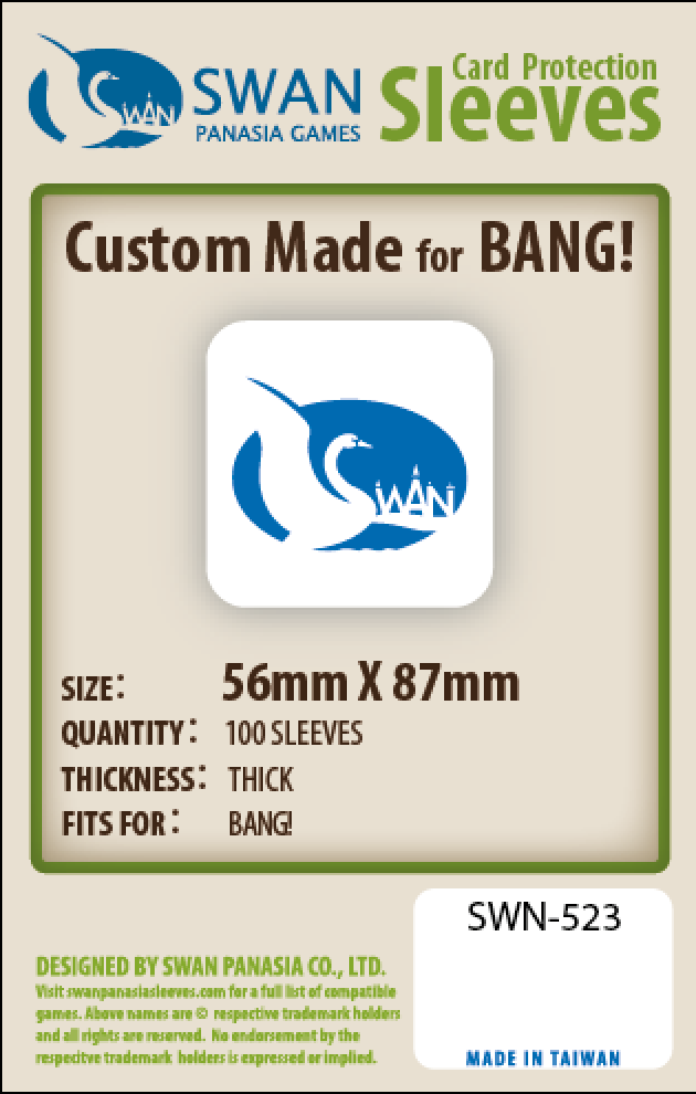 56x87mm - 100 Pack, Thick/Premium Sleeves - Bang (SWN-523)